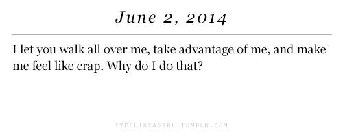 Why do I do that?